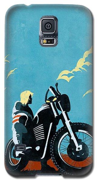 Motorcycle Galaxy S5 Case - Retro Scrambler Motorbike by Sassan Filsoof