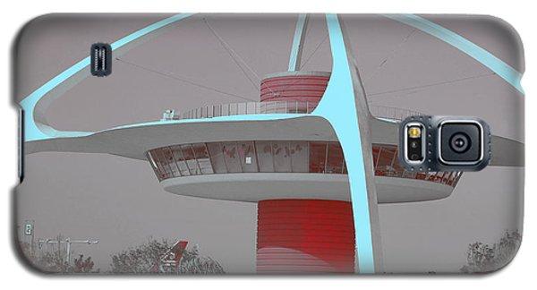 Retro Spaceship Aka La Airport Galaxy S5 Case by Matthew Bamberg