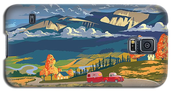 Retro Travel Autumn Landscape Galaxy S5 Case