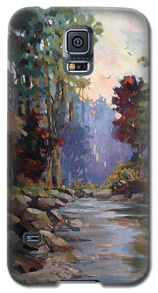 Galaxy S5 Case featuring the painting Return Home by Helen Harris