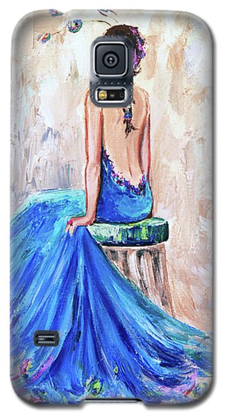 Galaxy S5 Case featuring the painting Rhapsody In Blue by Jennifer Beaudet