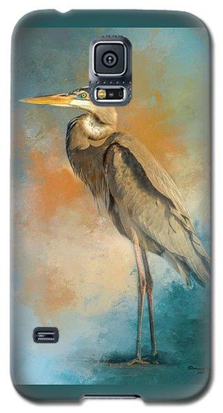 Egret Galaxy S5 Case - Rhapsody In Blue by Marvin Spates