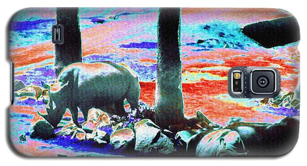 Rhinos Having A Picnic Galaxy S5 Case
