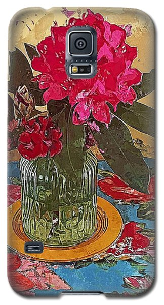 Galaxy S5 Case featuring the digital art Rhododendron by Alexis Rotella