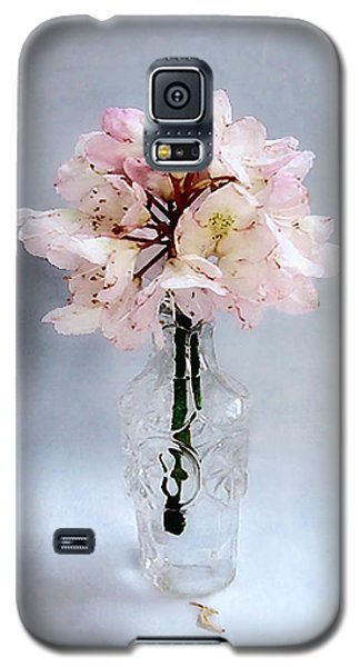 Rhododendron Bloom In A Glass Bottle Galaxy S5 Case by Louise Kumpf
