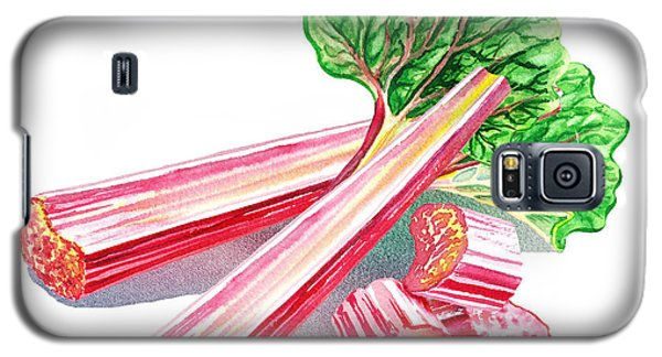 Galaxy S5 Case featuring the painting Rhubarb Stalks by Irina Sztukowski