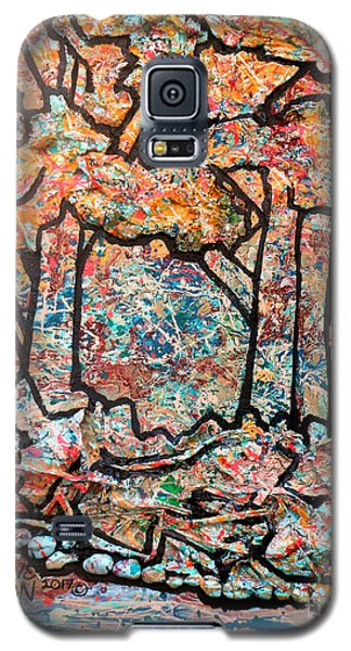 Galaxy S5 Case featuring the mixed media Rhythm Of The Forest by Genevieve Esson
