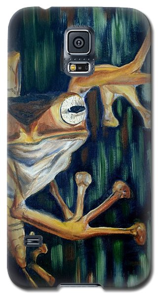 Galaxy S5 Case featuring the painting Ribbit by Donna Tuten