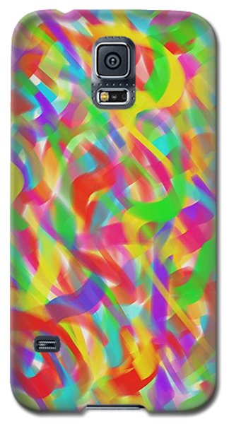 Galaxy S5 Case featuring the drawing Ribbons by Kevin Caudill