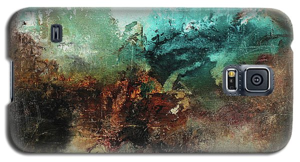Galaxy S5 Case featuring the painting Rich Earth Tones Abstract Not For The Faint Of Heart by Patricia Lintner