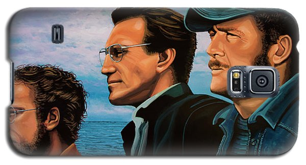 Jaws With Richard Dreyfuss, Roy Scheider And Robert Shaw Galaxy S5 Case by Paul Meijering