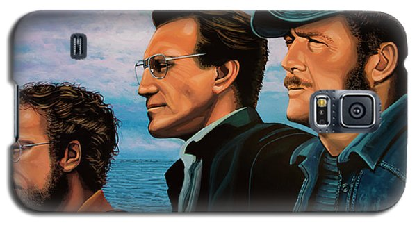 Sharks Galaxy S5 Case - Jaws With Richard Dreyfuss, Roy Scheider And Robert Shaw by Paul Meijering