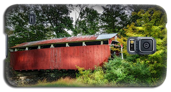 Galaxy S5 Case featuring the photograph Richards Covered Bridge by Marvin Spates