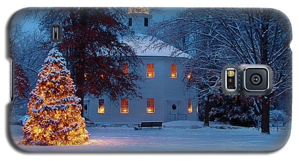 Richmond Vermont Round Church At Christmas Galaxy S5 Case