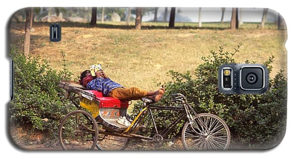 Rickshaw Rider Relaxing Galaxy S5 Case