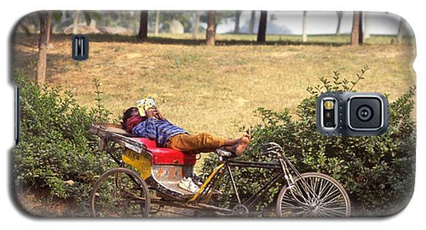 Rickshaw Rider Relaxing Galaxy S5 Case
