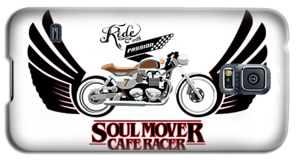 Ride With Passion Cafe Racer Galaxy S5 Case