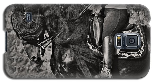 Galaxy S5 Case featuring the photograph Rider And Steed Dance D6032 by Wes and Dotty Weber