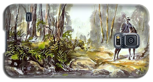 Rider By The Creek Galaxy S5 Case
