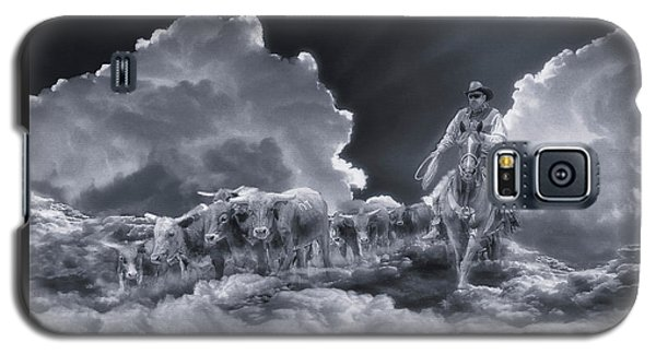 Riders In The Sky Bw Galaxy S5 Case