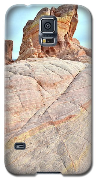Galaxy S5 Case featuring the photograph Riding The Wave In Valley Of Fire by Ray Mathis