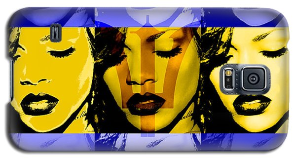 Rihanna Warhol Barbados By Gbs Galaxy S5 Case by Anibal Diaz