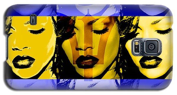 Rihanna Warhol Barbados By Gbs Galaxy S5 Case by Anibal Diaz