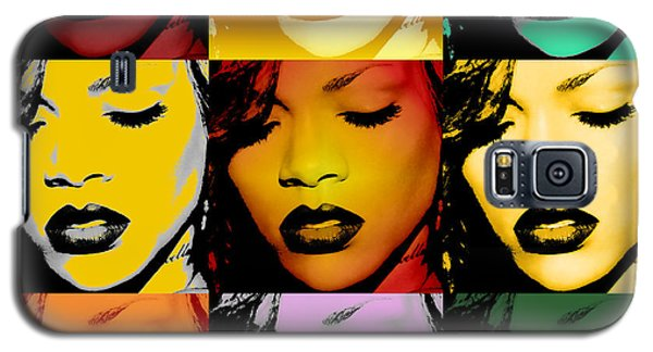 Rihanna Warhol By Gbs Galaxy S5 Case by Anibal Diaz