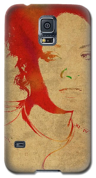 Rihanna Watercolor Portrait Galaxy S5 Case by Design Turnpike