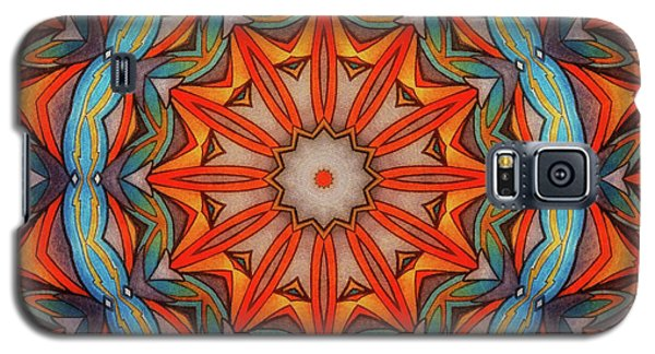 Galaxy S5 Case featuring the drawing Ring Of Fire by Mo T