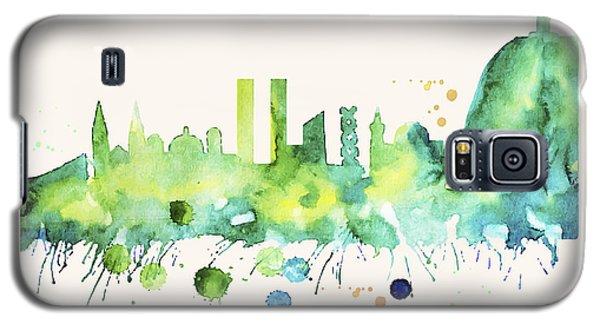 Rio De Janeiro Skyline Watercolor Poster - Cityscape Painting Artwork Galaxy S5 Case