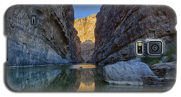 Galaxy S5 Case featuring the tapestry - textile Rio Grand - Big Bend by Kathy Adams Clark
