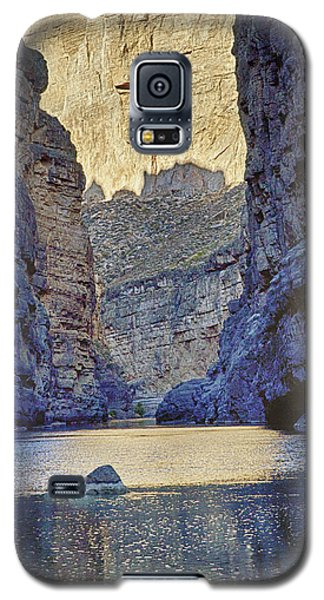 Galaxy S5 Case featuring the tapestry - textile Rio Grand, Santa Elena Canyon Texas 2 by Kathy Adams Clark