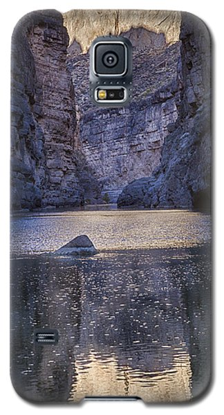 Galaxy S5 Case featuring the tapestry - textile Rio Grand, Santa Elena Canyon Texas by Kathy Adams Clark