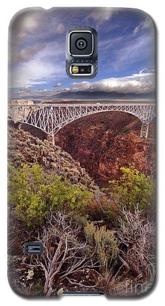 Galaxy S5 Case featuring the photograph Rio Grande Gorge Bridge by Jill Battaglia