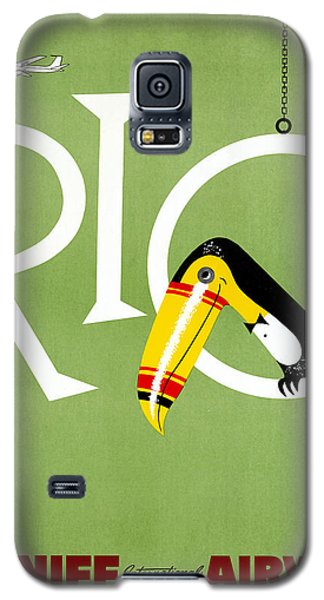 Rio Vintage Travel Poster Restored Galaxy S5 Case