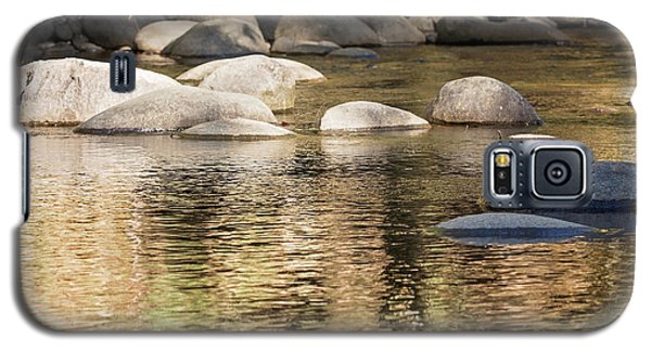 Galaxy S5 Case featuring the photograph Ripples And Rocks by Linda Lees