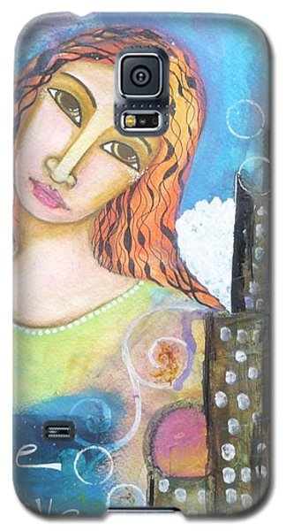 Galaxy S5 Case featuring the painting Rise Above Because You Are An Angel by Prerna Poojara