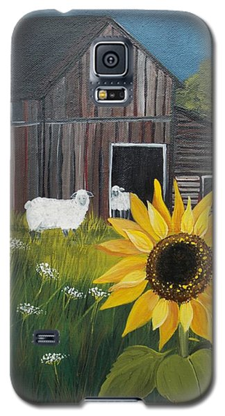 Galaxy S5 Case featuring the painting Rise And Shine by Virginia Coyle
