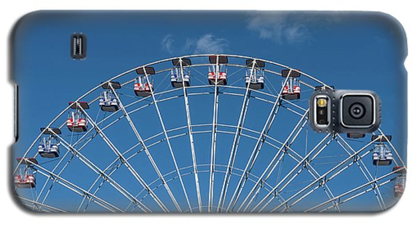Rise Up Ferris Wheel In The Clouds Seaside Nj Galaxy S5 Case by Terry DeLuco