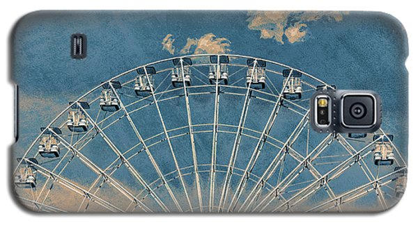 Rise Up Ferris Wheel In The Clouds Galaxy S5 Case by Terry DeLuco