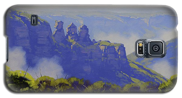 The Sky Galaxy S5 Case - Rising Mist Three Sisters Australia by Graham Gercken