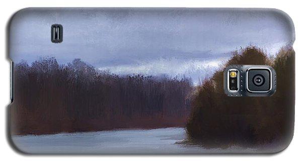 River Bend In Winter Galaxy S5 Case