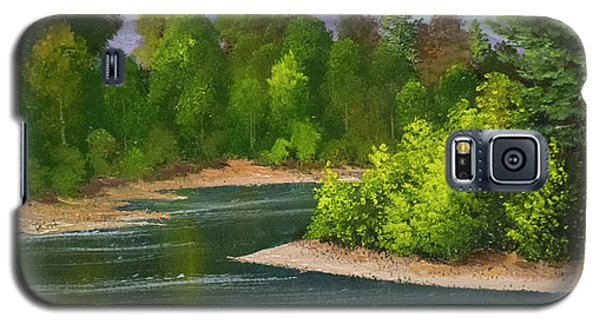 Galaxy S5 Case featuring the painting River Confluence by Frank Wilson