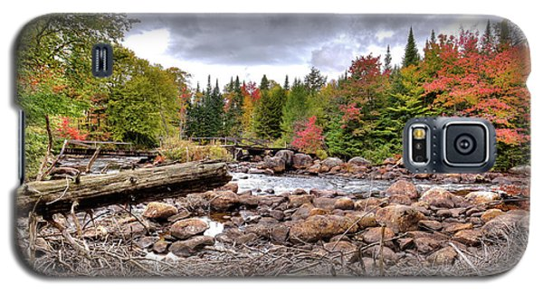 Galaxy S5 Case featuring the photograph River Debris At Indian Rapids by David Patterson