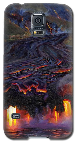 River Of Fire - Kilauea Volcano Eruption Lava Flow Hawaii Contemporary Landscape Decor Galaxy S5 Case