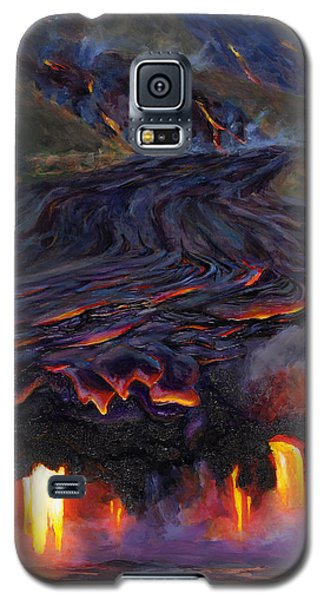 River Of Fire - Kilauea Volcano Eruption Lava Flow Hawaii Contemporary Landscape Decor Galaxy S5 Case