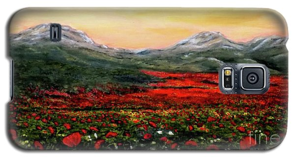 River Of Poppies Galaxy S5 Case by Judy Kirouac