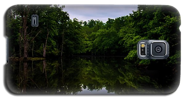 Galaxy S5 Case featuring the digital art River Reflections by Chris Flees