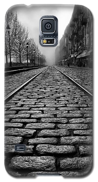 River Street Railway - Black And White Galaxy S5 Case